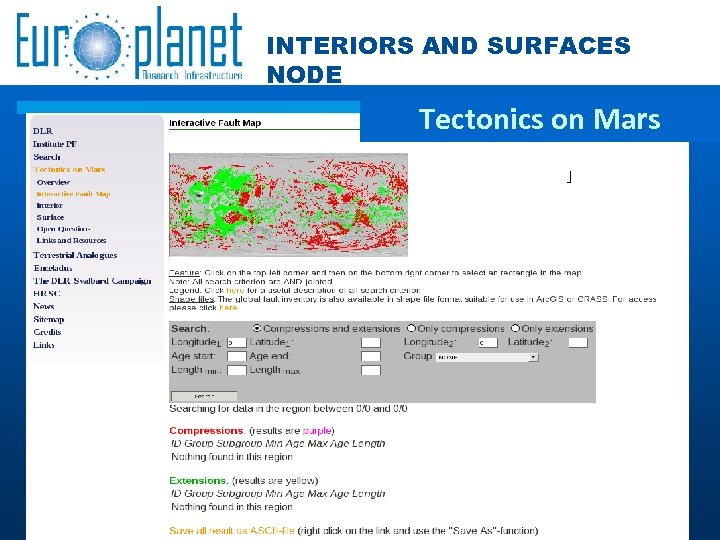 INTERIORS AND SURFACES NODE Tectonics on Mars