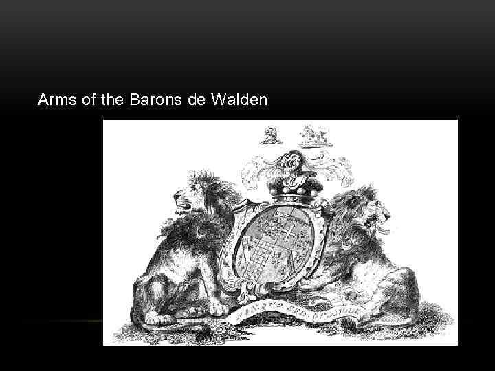 Arms of the Barons de Walden