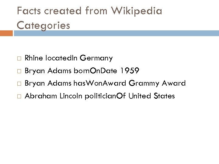 Facts created from Wikipedia Categories Rhine located. In Germany Bryan Adams born. On. Date