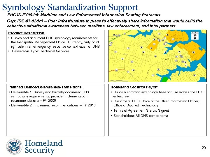 Symbology Standardization Support EHC IS-FY 09 -06: Maritime and Law Enforcement Information Sharing Protocols