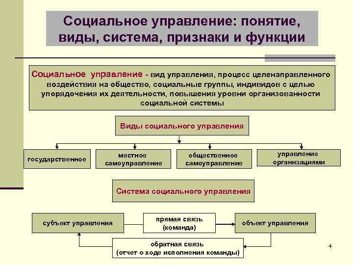 Социальное управление: понятие, виды, система, признаки и функции Социальное управление - вид управления, процесс