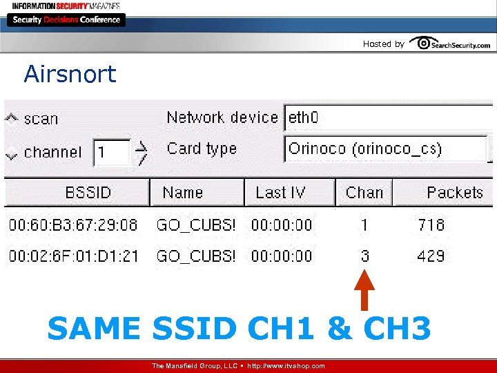 Hosted by Airsnort SAME SSID CH 1 & CH 3 The Mansfield Group, LLC