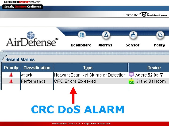 Hosted by CRC Do. S ALARM The Mansfield Group, LLC • http: //www. itvshop.