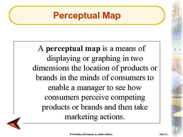 Perceptual Map A perceptual map is a means of displaying or graphing in two