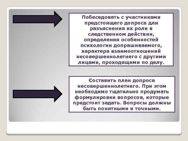 Особенности тактики производства следственных действий с участием несовершеннолетних шпаргалка