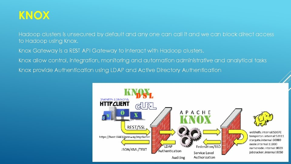 KNOX Hadoop clusters is unsecured by default and any one can call it and