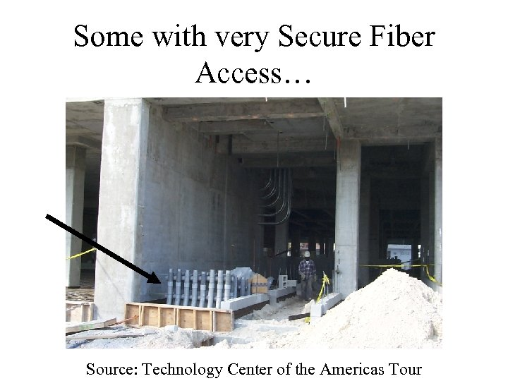 Some with very Secure Fiber Access… Source: Technology Center of the Americas Tour