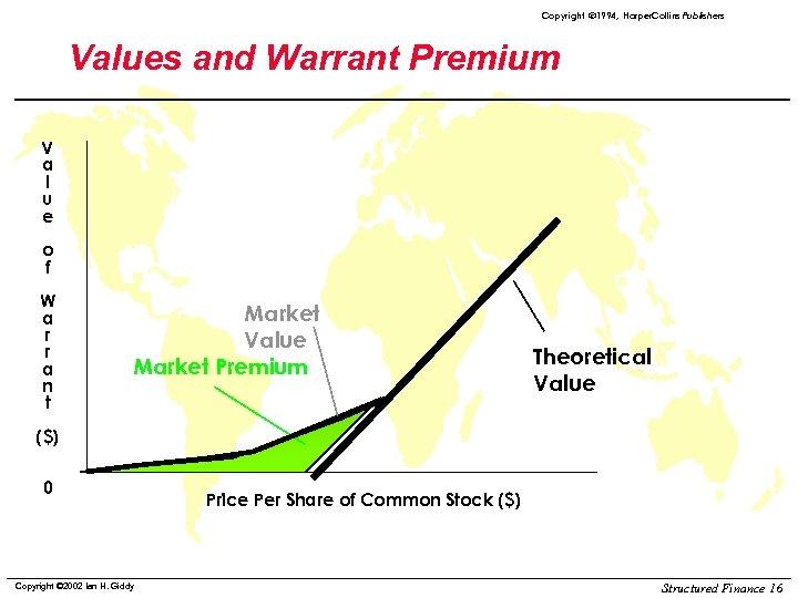 Copyright ã 1994, Harper. Collins Publishers Values and Warrant Premium V a l u