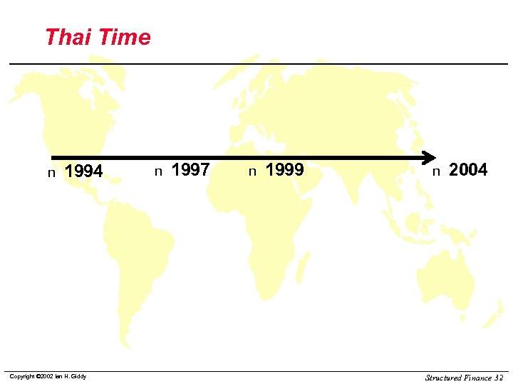 Thai Time n 1994 Copyright © 2002 Ian H. Giddy n 1997 n 1999