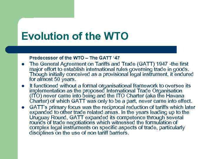 An Introduction To The Wto A What