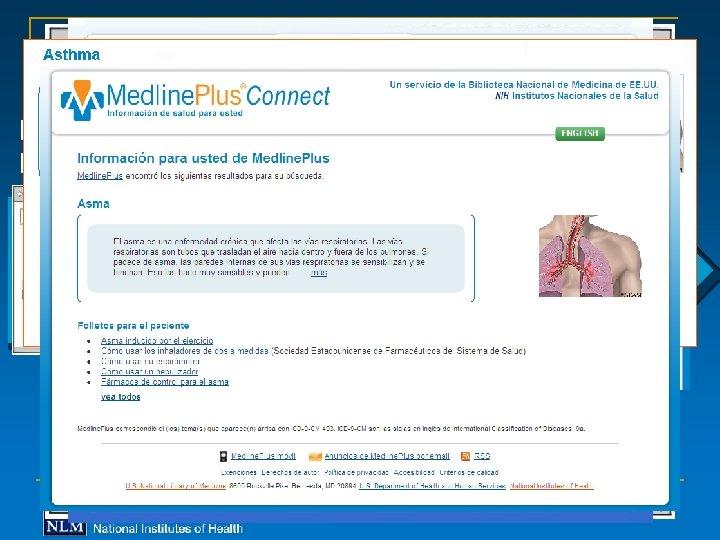 EHR, EMR, PHR Medline. Plus Connect Infobutton Page Medline. Plus