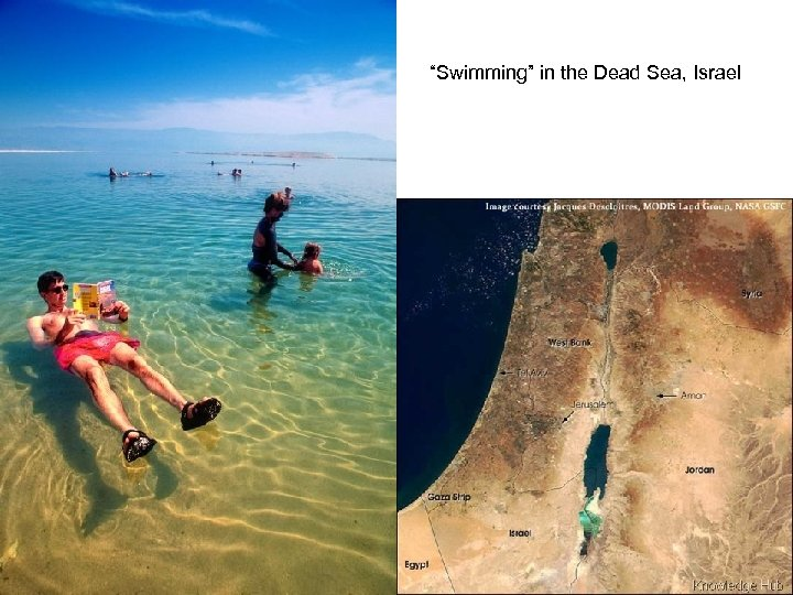 """Swimming"" in the Dead Sea, Israel"