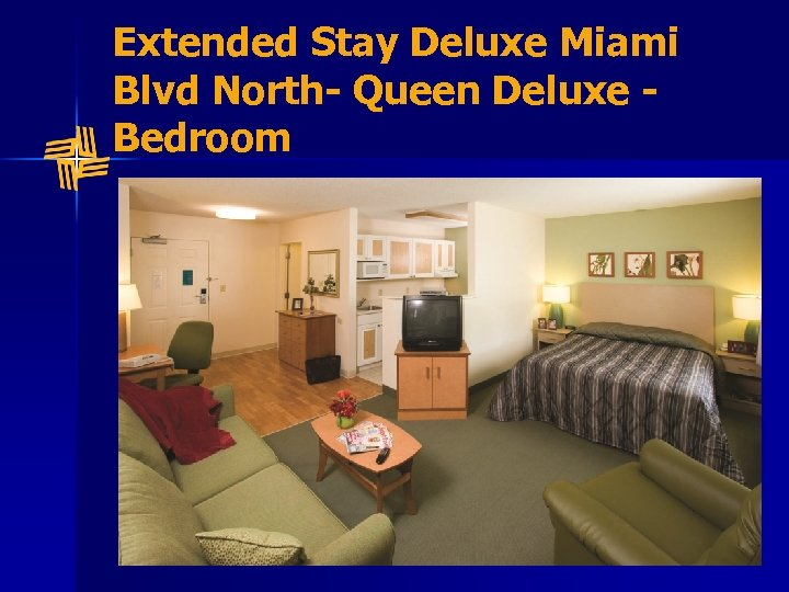 Extended Stay Deluxe Miami Blvd North- Queen Deluxe Bedroom