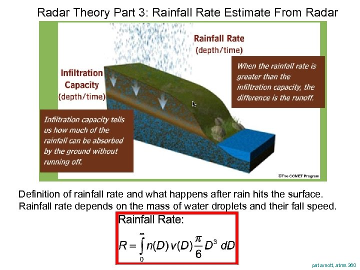 Radar Theory Part 3: Rainfall Rate Estimate From Radar Definition of rainfall rate and