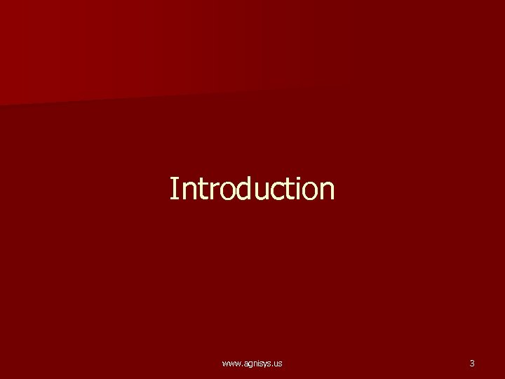 Introduction www. agnisys. us 3