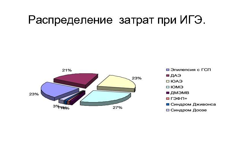 Распределение затрат при ИГЭ.
