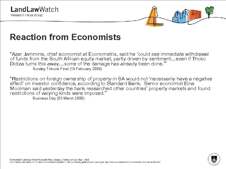 """Reaction from Economists """"Azar Jammine, chief economist at Econometrix, said he 'could see immediate"""