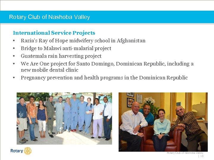 Rotary Club of Nashoba Valley International Service Projects • Razia's Ray of Hope midwifery