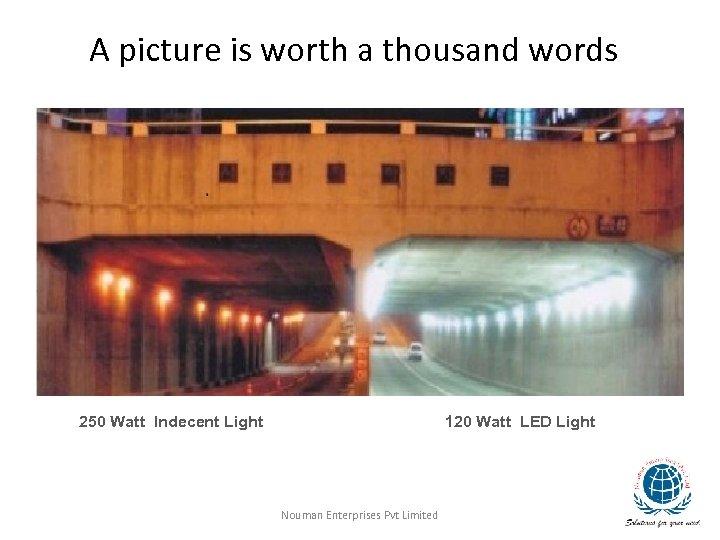 A picture is worth a thousand words 250 Watt Indecent Light 120 Watt LED
