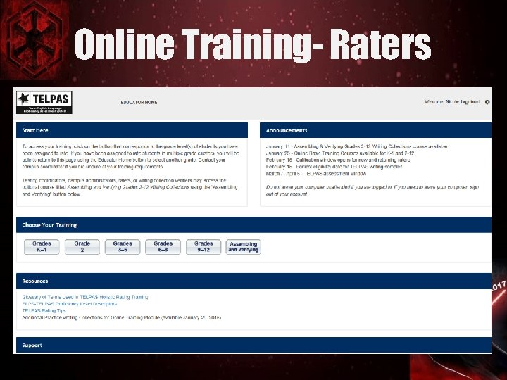 Online Training- Raters