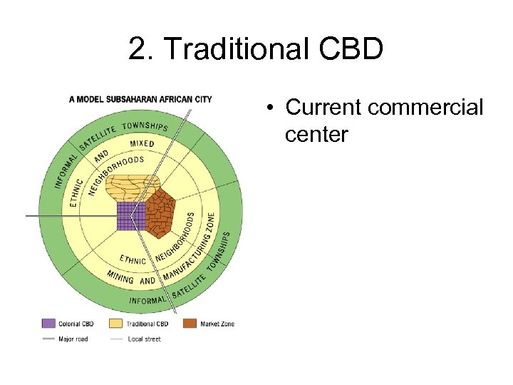 2. Traditional CBD • Current commercial center