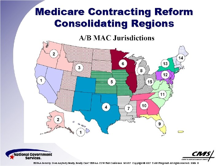 Medicare Contracting Reform Consolidating Regions HIPAA Security: Does Anybody Really, Really Care? HIPAA COW