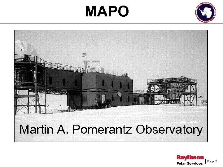 MAPO Martin A. Pomerantz Observatory Page 2