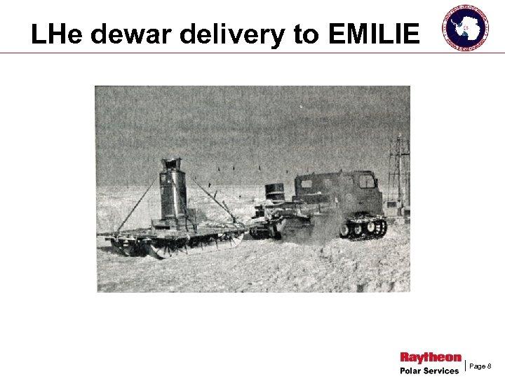 LHe dewar delivery to EMILIE Page 8