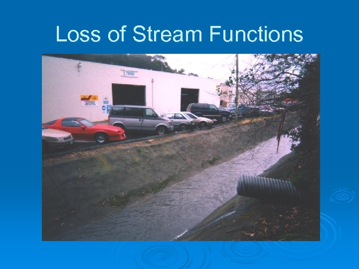 Loss of Stream Functions