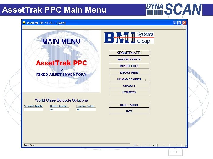 Asset. Trak PPC Main Menu