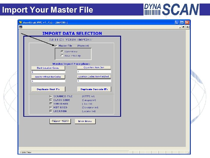 Import Your Master File