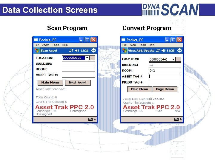Data Collection Screens Scan Program Convert Program
