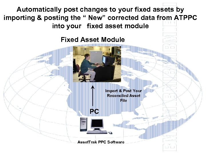 "Automatically post changes to your fixed assets by importing & posting the "" New"""