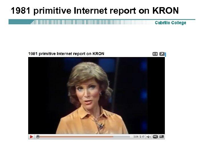 1981 primitive Internet report on KRON