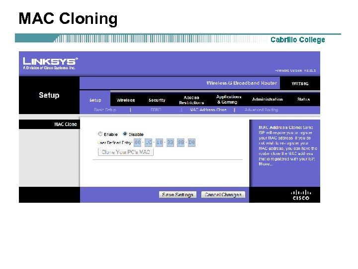 MAC Cloning