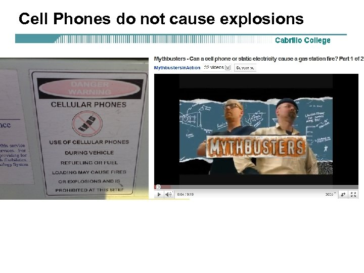 Cell Phones do not cause explosions