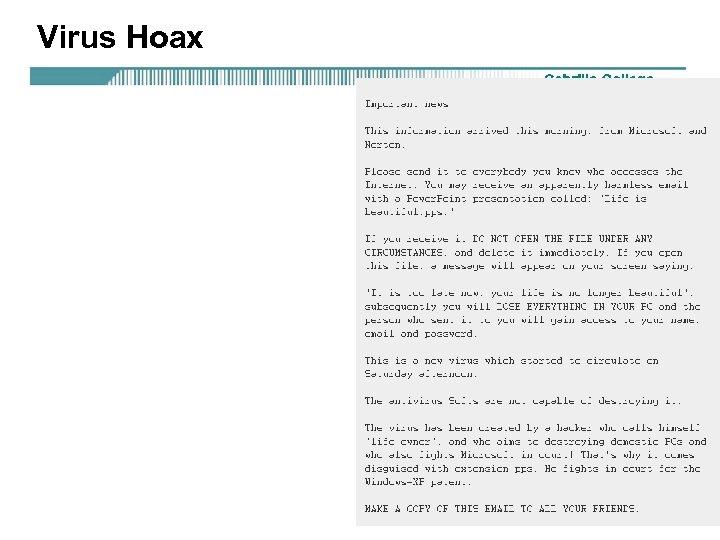 Virus Hoax