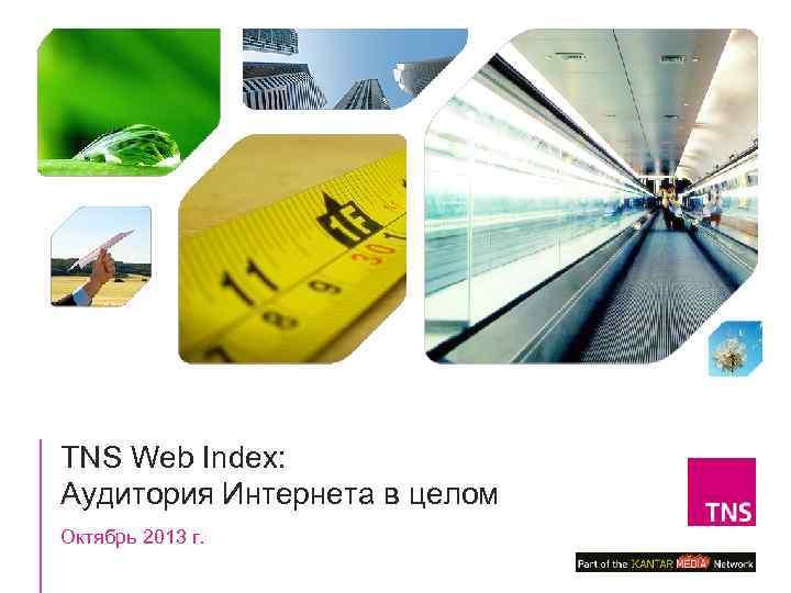 TNS Web Index: Аудитория Интернета в целом Октябрь 2013 г.