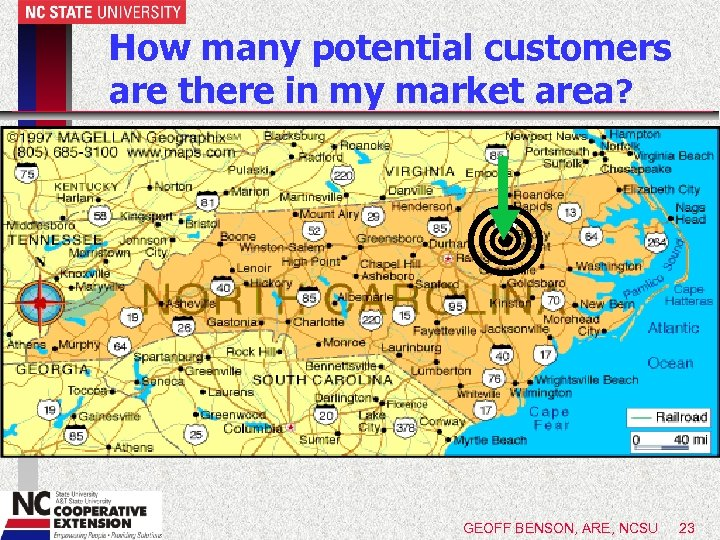 How many potential customers are there in my market area? GEOFF BENSON, ARE, NCSU