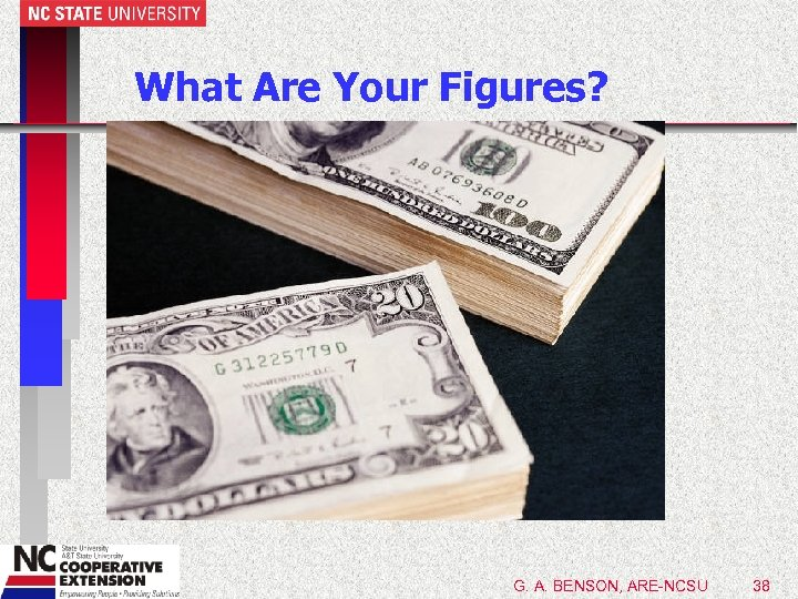 What Are Your Figures? G. A. BENSON, ARE-NCSU 38