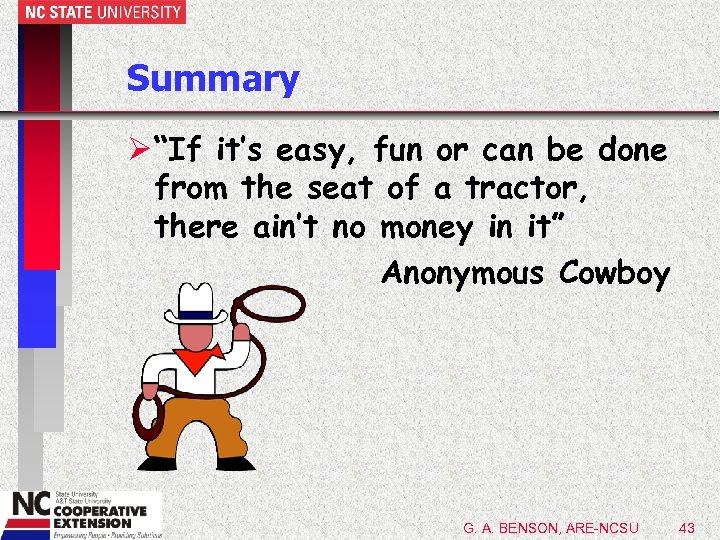 """Summary Ø """"If it's easy, fun or can be done from the seat of"""
