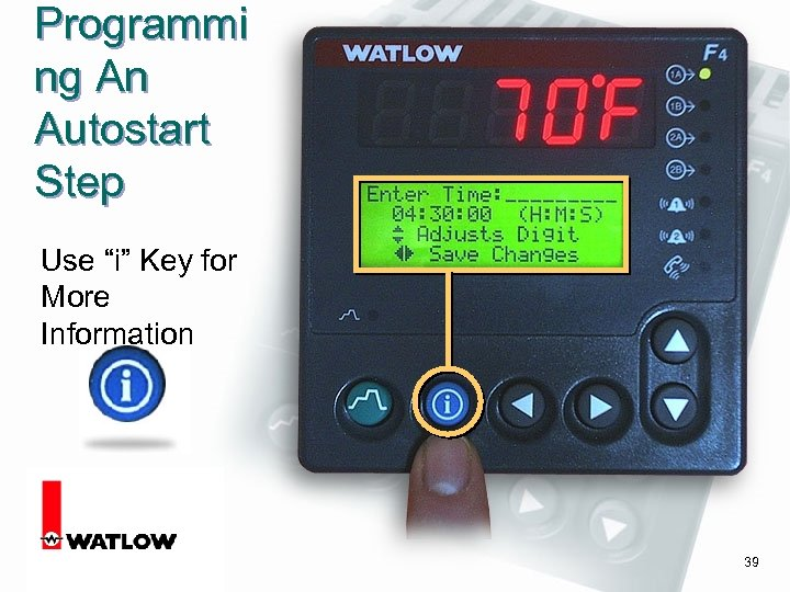 "Programmi ng An Autostart Step Use ""i"" Key for More Information 39"