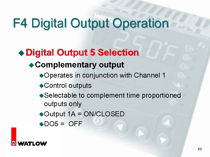 F 4 Digital Output Operation u Digital Output 5 Selection u Complementary output u.