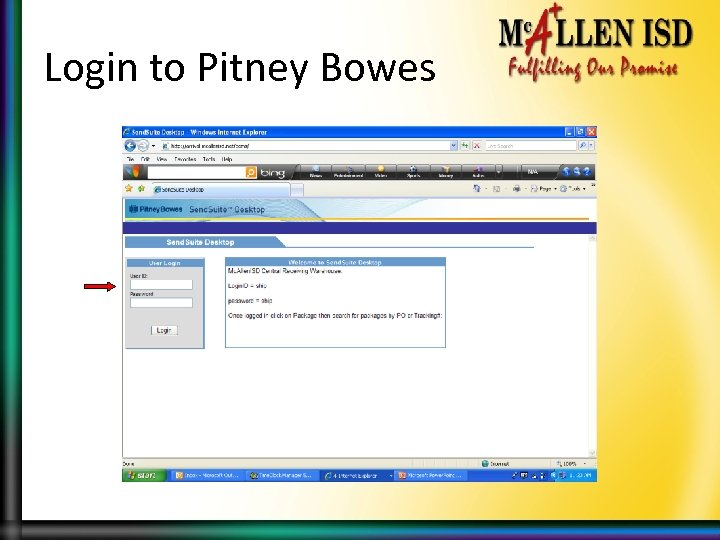 Login to Pitney Bowes