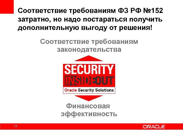 Соответствие требованиям ФЗ РФ № 152 затратно, но надо постараться получить дополнительную выгоду от