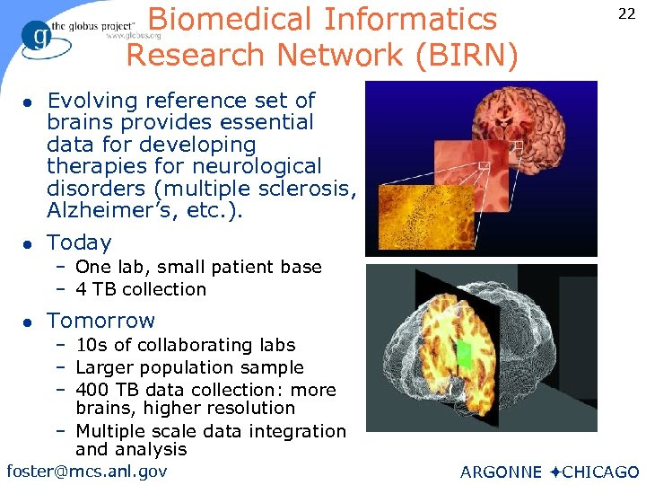 Biomedical Informatics Research Network (BIRN) l l 22 Evolving reference set of brains provides