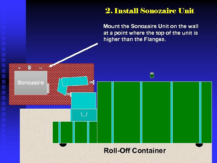 2. Install Sonozaire Unit Mount the Sonozaire Unit on the wall at a point