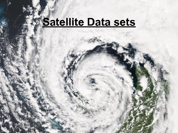 Satellite Data sets