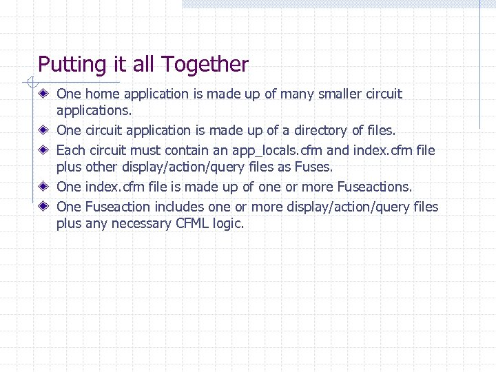 Putting it all Together One home application is made up of many smaller circuit
