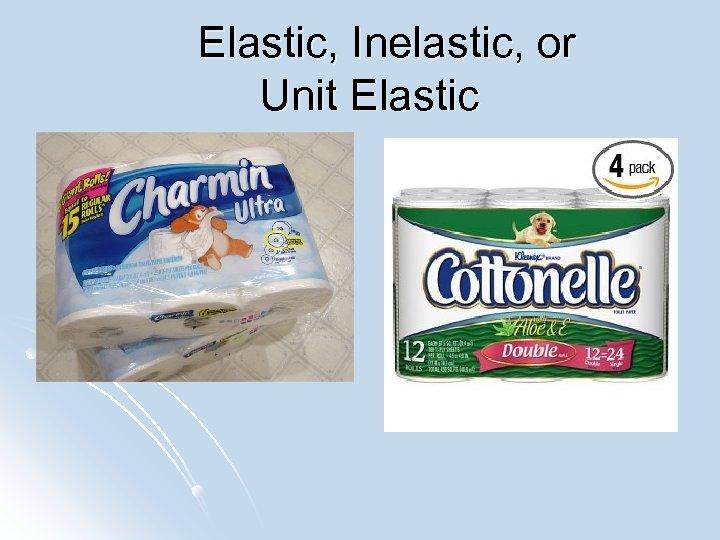 Elastic, Inelastic, or Unit Elastic